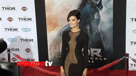 jaimie alexander stunning quot thor the dark world quot la