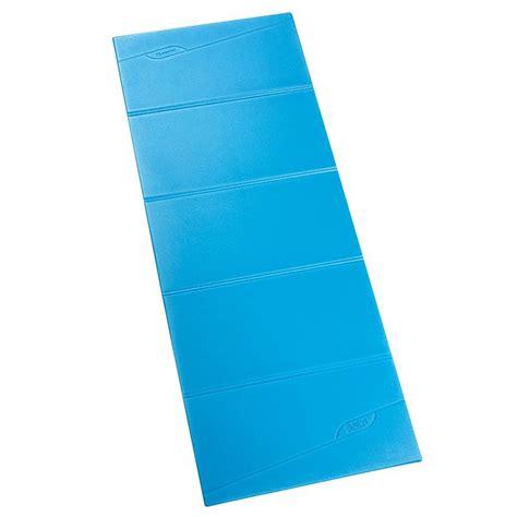 tappeti per ginnastica tappetino pilates pieghevole 8mm azzurro domyos