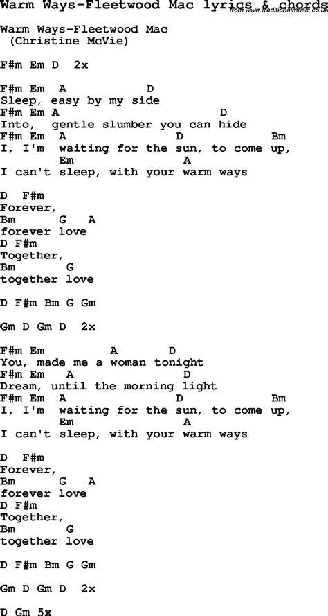 Fleetwood Mac Guitar Chords