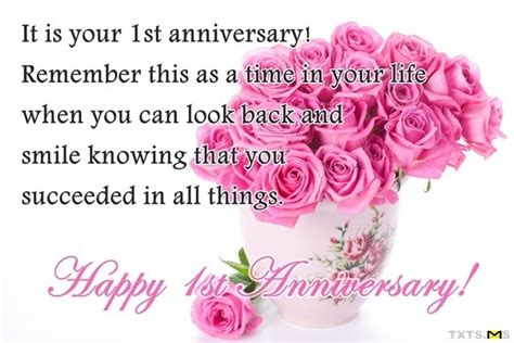 1st wedding anniversary wishes happy anniversary wishes gallery