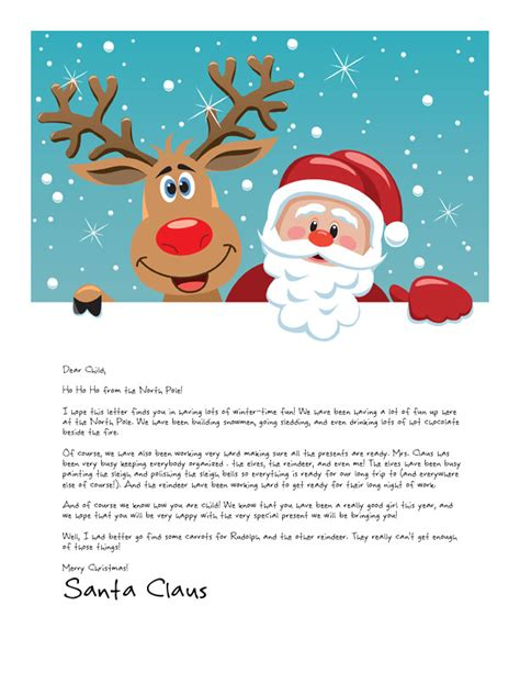 free printable personalised letter from santa template easy free letters from santa customize your text and