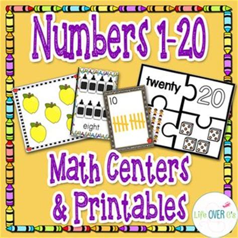 numbers 1 20 printable games numbers 1 20 math centers games and printables