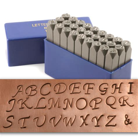 letter rubber st set metal sting tools fancy uppercase letter st set 1 4