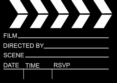 Oscar Party The Creative Side Of Things Clapper Board Template Free