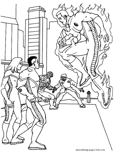 free coloring pages of fantastic 4