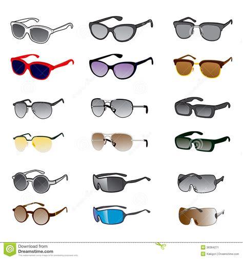 nine sunglasses styles stock image image 36384271