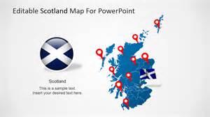 editable scotland powerpoint map slidemodel