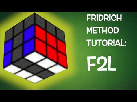 tutorial rubik f2l fridrich method tutorial f2l youtube