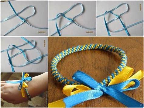 how to weave diy easy ribbon bracelet