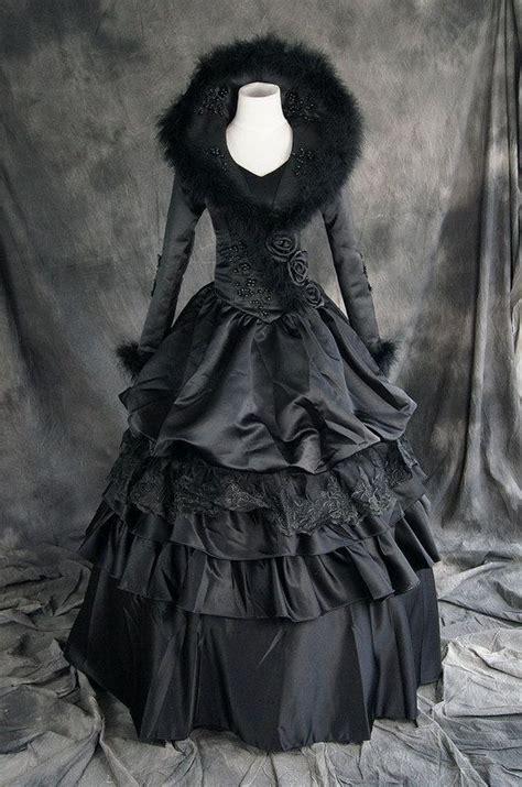 victorian gothic victorian gothic lolita schwarz black kost 252 m costume kleid