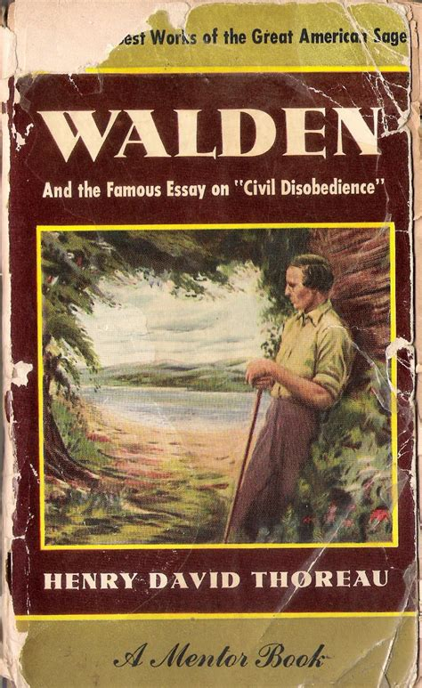walden book read my books walden and the essay on civil disobedience