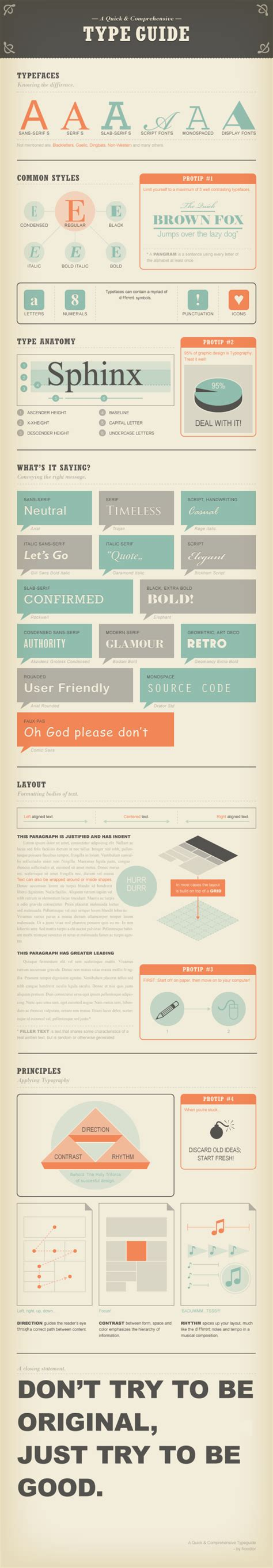typography guide a and comprehensive type guide daily infographic