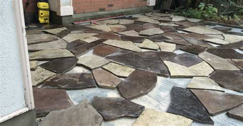 rebuilding an flagstone patio with new flagstone