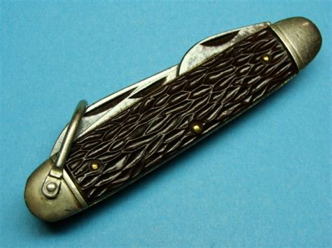 antique pocket knives values antique vintage camillus usa scout pocket knife knives antique price guide details page
