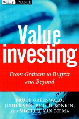 Value Investing Mba by 9780471381983 Value Investing From Graham To Buffett And
