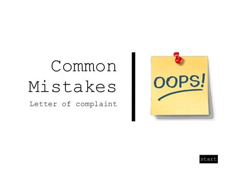 Common Business Letter Writing Mistakes common mistakes letters of complaint