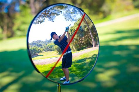 golf swing monitors golfreflection swing monitor mirror by golfreflection