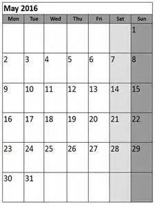 Landscape Calendar Template by May 2017 Printable Calendar Landscape A4 Portrait