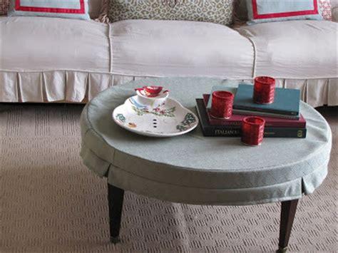 Coffee Table Slipcover bibbidi bobbidi beautiful how to make a coffee table slipcover skirt