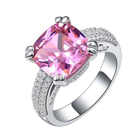 high  fashion ultra luxury inlaid pink cz engagement