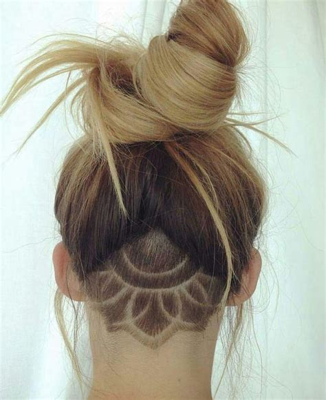 triangle with slight graduation with shaved head image result for undercut back of head fine hair women