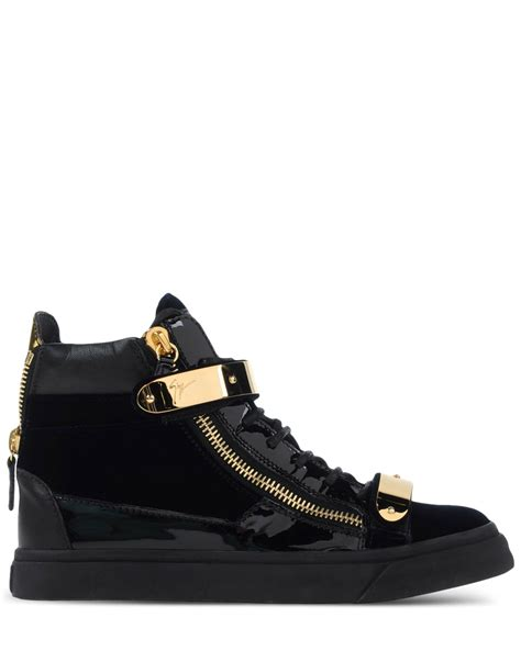 black high top sneakers giuseppe zanotti high top sneakers in black lyst