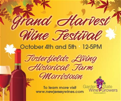 Garden State Wine Growers Festival 2017 Garden State Wine Growers To Hold Grand Harvest Wine