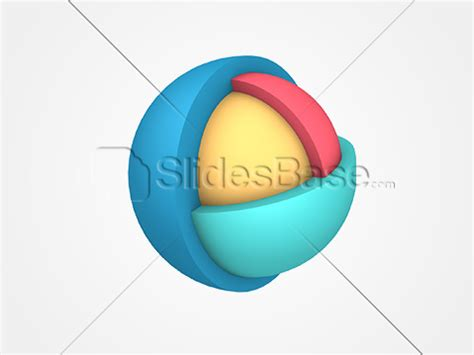sphere section 3d layered sphere stock photo png slidesbase