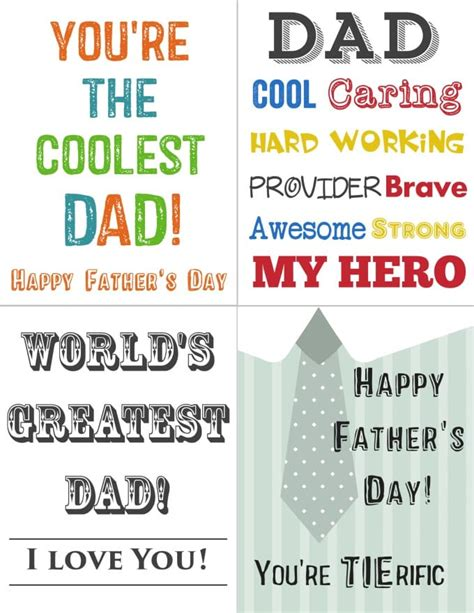 Free Printable Fathers Day Cards From The