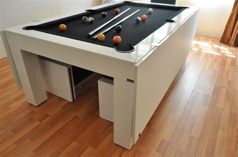 modern and pool table dining table combo