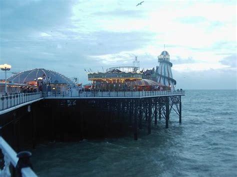 brighton pier amusement park photo
