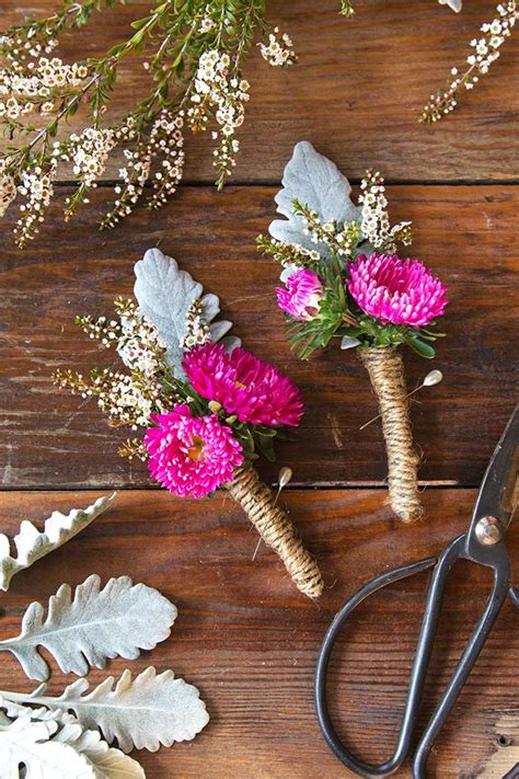 are corsages in style how to make your own boutonnieres modern wedding