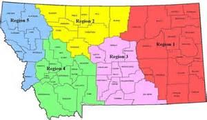 regional map of regional map and regional vice presidents montana