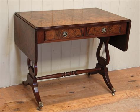 burr walnut drop leaf sofa table 285760