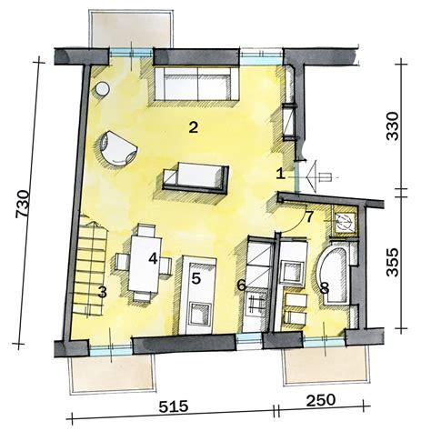 pianta casa una casa di 55 mq in rosso cose di casa