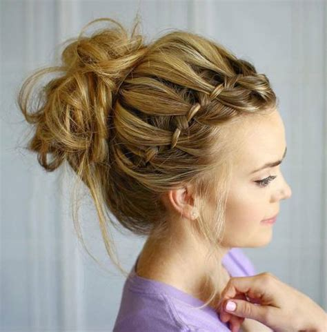formal hairstyles messy bun with braid 45 pretty ideas for casual and formal bun hairstyles