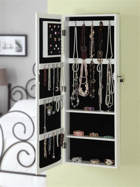 jewelry armoire hanging best hanging jewelry armoire homesfeed