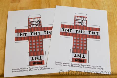 Minecraft Tnt Block Template by Minecraft Tnt Box Valentines Free Printable