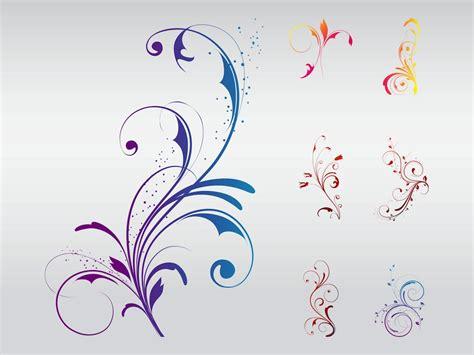 swirly floral designs