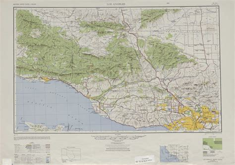 topography map los angeles topographic maps ca usgs topo 34118a1 at 1 250 000 scale