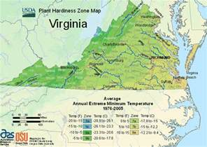 Zones For Gardening Map - usda plant hardiness zone map for virginia