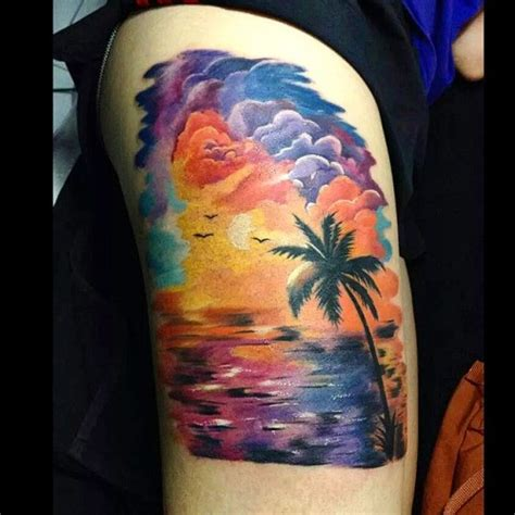sunrise tattoo delightful sunset and tattoos ideas