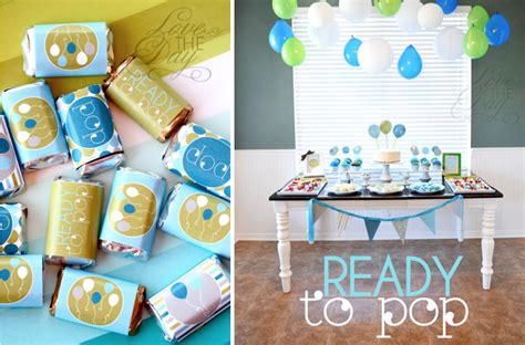 kara s ideas quot ready to pop quot blue green baby shower
