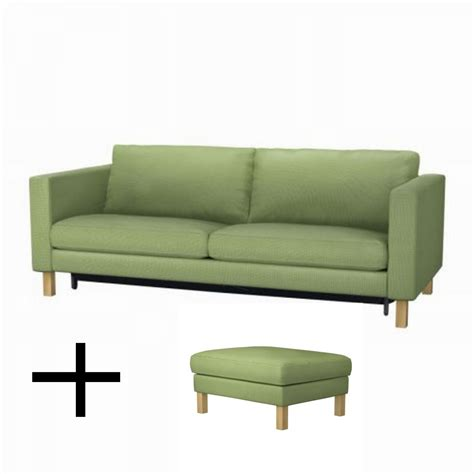 Ikea Uk Sofa Beds Ikea Karlstad Sofa Bed And Footstool Slipcovers Sofabed Ottoman Covers Korndal Green