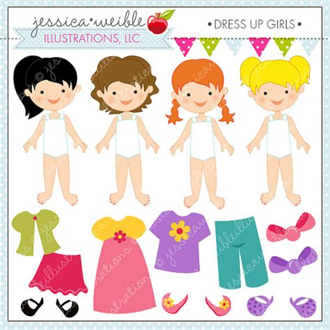 printable dress up games dress up girl cute digital clipart for invitations card