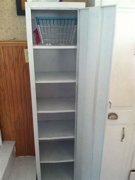 hometalk metal cabinet turned into pantry