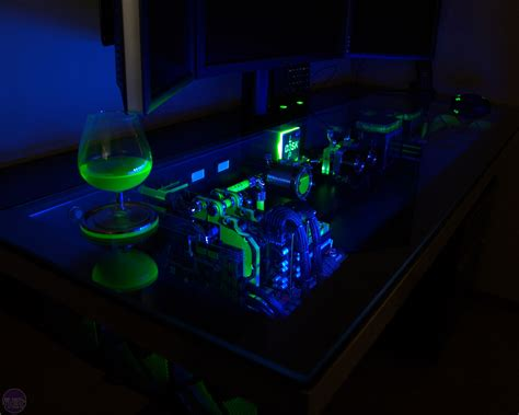 Liquid Cooled Desk by Amazing Water Cooled Pc In A Desk Bit Tech Net