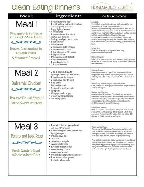printable clean eating plan clean eating clean eating menu and clean eating meal plan