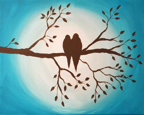 Faux Finishes Paint - love birds on branch original painting just paint it blog