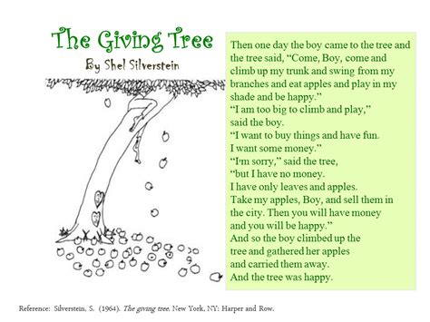 the giving tree picture book pdf elldreamersite choral reading instruments